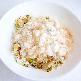 卵の白身で かに淡雪あんかけ炒飯