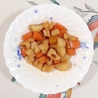 菊芋、レンコン、人参の炒め物