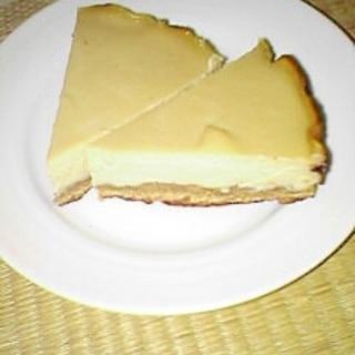 卵牛乳油無し フライパンで作る 豆腐チーズケーキ♪