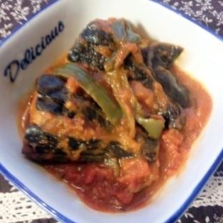 肉詰め茄子のトマトソース