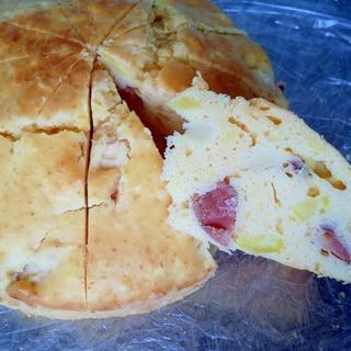 3時のおやつ♪さつまいもと皮付き林檎ケーキ☆