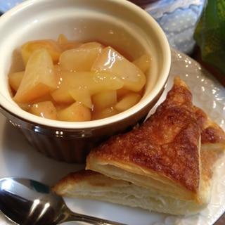 ディップして食べるアップルパイ