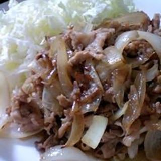 しゃぶしゃぶ用のお肉で。豚のしょうが焼き