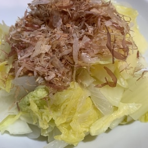蒸し白菜のポン酢和え