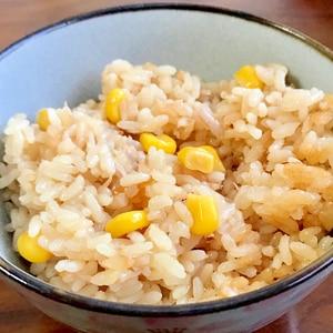 めんつゆで作る☆コーンとツナの炊き込みご飯
