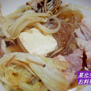 めんつゆで☆寄せ鍋のスープ