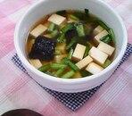豆腐と韓国のりの旨味スープ
