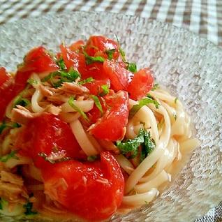 簡単美味しい!ツナとトマトの冷やしうどん