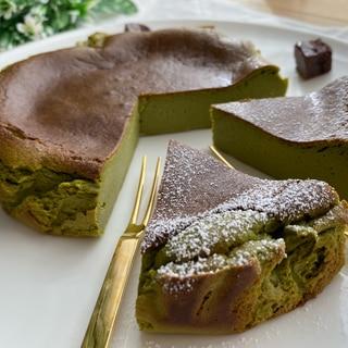豆乳で作る抹茶バスクチーズケーキ♡