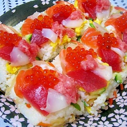 華やか♪彩りちらしの押し寿司