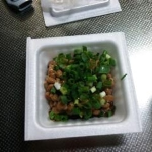 ごま油で食べる納豆