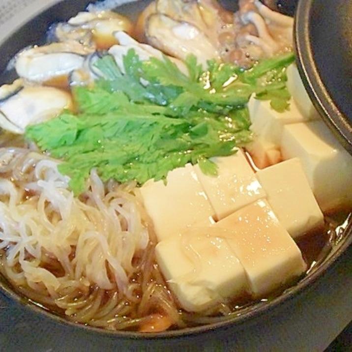 昆布だしであっさり☆「牡蠣すき鍋」
