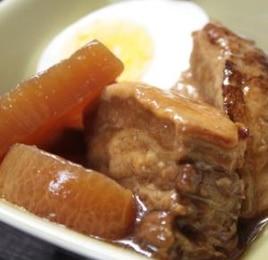 美味しい豚の角煮。