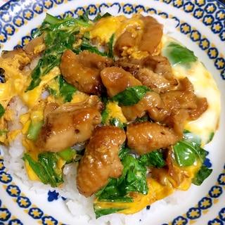鶏肉と小松菜の卵とじ☆
