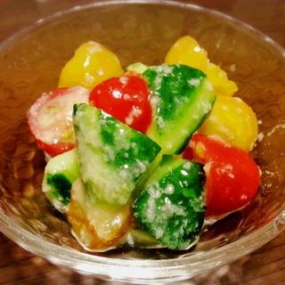 *超簡単3分* きゅうりとトマトの塩麹和え☆