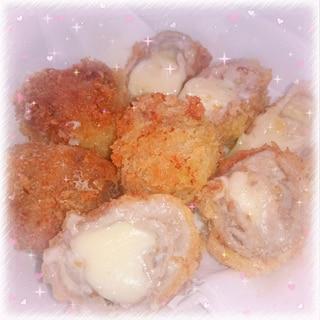 【肉汁がジュワッと】豚バラのチーズ巻きフライ