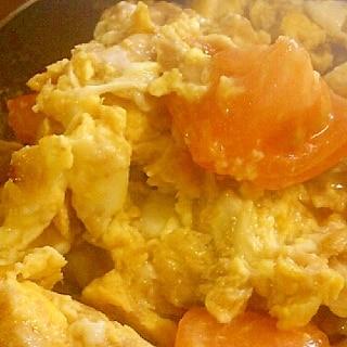トマトとツナと卵の炒め