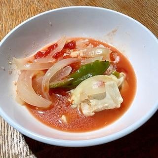 無水鍋で簡単☆チキンのトマト煮