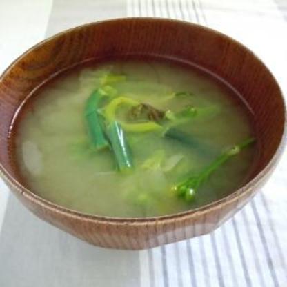わらびのお味噌汁
