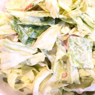 【簡単・スピード】ハムとキャベツのやみつきサラダ