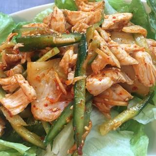 【ダイエット向けレシピ】鶏ささみのキムチ和え