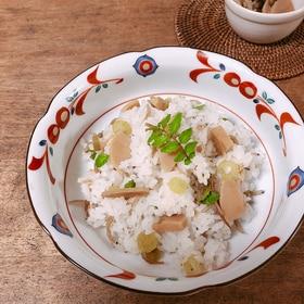 ジャコと山菜の炊き込みご飯