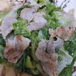 レタスと豚肉の味噌炒め