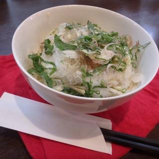冷やし素麺カルボナーラ