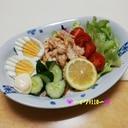 アンチョビキャベツの野菜チキンサラダ