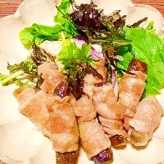 レンジで簡単☆茄子の豚肉巻き