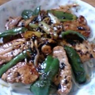 豚ヒレ肉のトウチ炒め