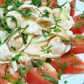 枇杷と玉ねぎのサラダ (我が家の味)