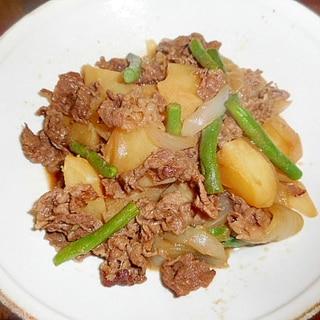 牛肉・新じゃが芋・新玉葱の甘辛煮