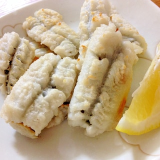 鱧の塩焼きレモン風味