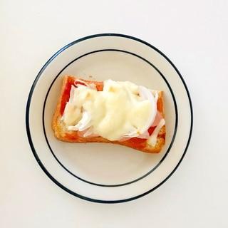 冷蔵庫の残り食材でピザトースト