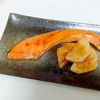 鮭と長芋のバター醤油焼き++