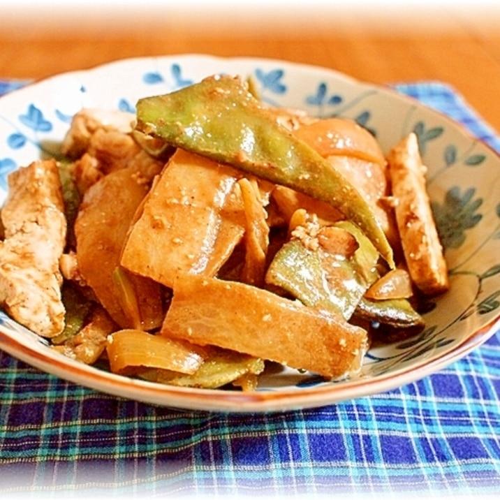 豚バラと大根のゴマ味噌炒め