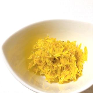 食用菊(小菊)のおひたしと、茹でて冷凍保存する方法