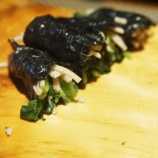 【高知食材】三つ葉の蕎麦寿司