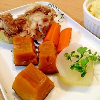 豚バラ肉とカボチャが美味しい☆タジン鍋