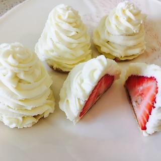 かくれんぼイチゴのモンブラン