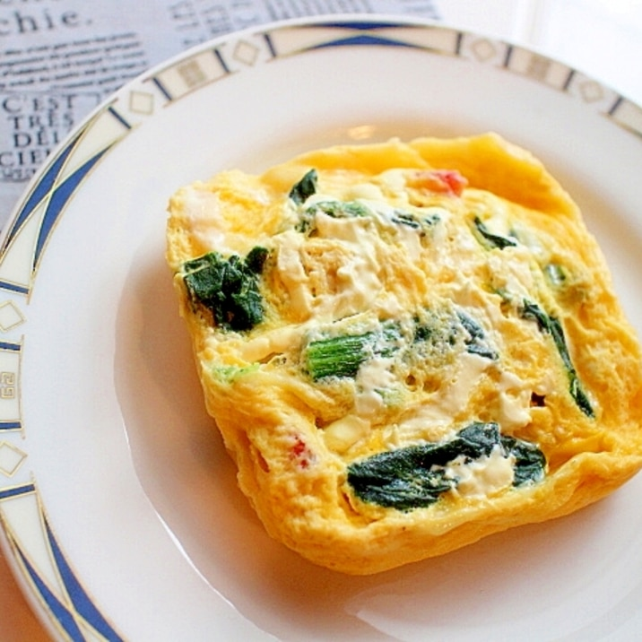 オムレツやキッシュより簡単!レンジでカラフル卵焼き