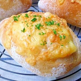 自家製酵母でダブルチーズクッペ