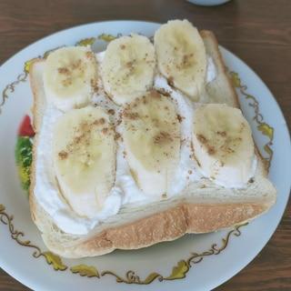 トーストアレンジ♡バナナシナモンクリーム