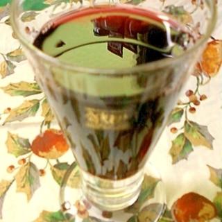 飲みやすさに注意☆梅酒割り赤ワイン☆*:・
