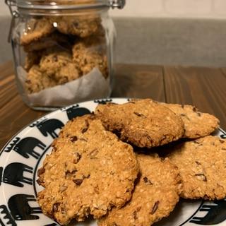 小豆入り簡単オートミールクッキー