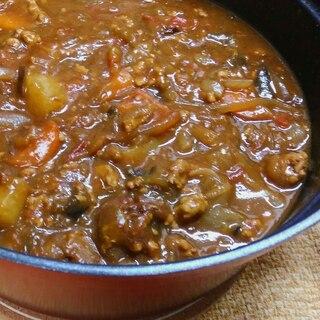 無水鍋で⭐★豚挽き肉と夏野菜のカレー