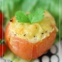 卵とチーズのトマトカップオーブン焼き