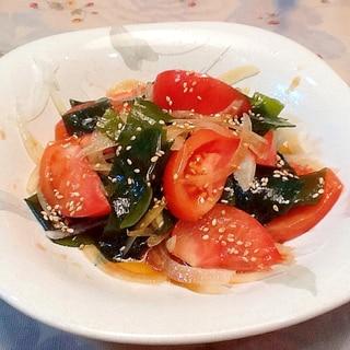 ☆トマトとわかめの和風サラダ