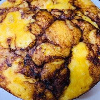 朝食♪おやつに♪簡単炊飯器ケーキマーブルココア♡